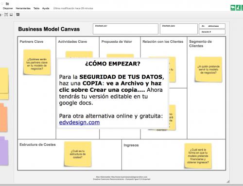 Crea tu business model canvas con google docs