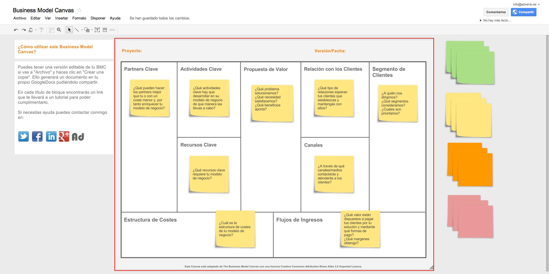 Business Model Canvas - Advenio