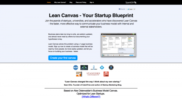 Lean Canvas design