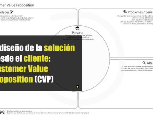 El diseño de la solución desde el cliente: Customer Value Proposition (CVP) design