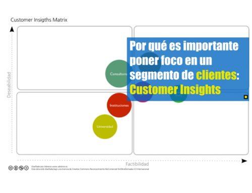 Por qué es importante poner foco en un segmento de clientes: Customer Insights Matrix